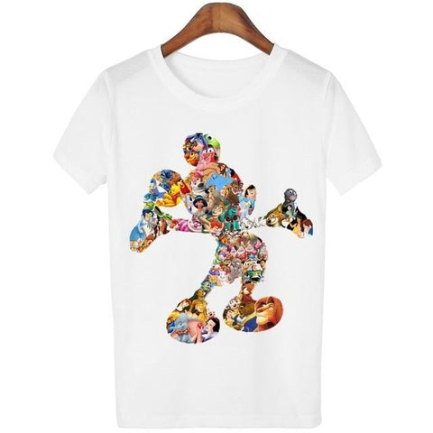 Lovely Cartoon O-Neck Casual Short Sleeve T-Shirt
