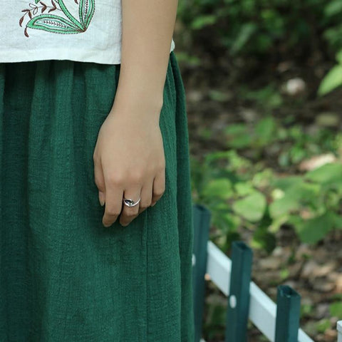 Calla Lily Flowers Vintage Open Ring