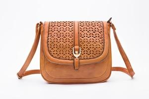 Leather Vintages Hollow Out Cross Body Shoulder Bag