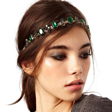 Boho Metal  Rhinestone vintage bridal headpiece Headband