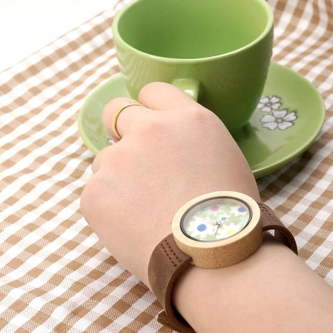Fabric Print Style Dial Ladies Quartz Watch