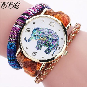 Bohemian Style Handmade Braided Elephant Watch