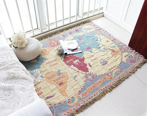 World Map Decorative Sofa/Beds Blanket