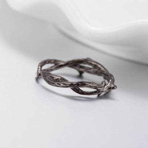 Vintage Twig Ring Black Tree Branches Ring