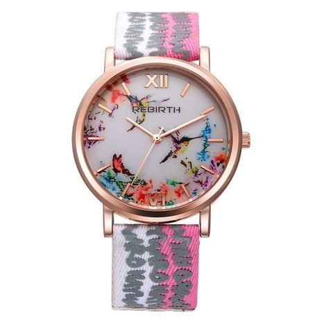 Fashion Girl Luxury Ladies Watch Nylon Casual Women Watch
