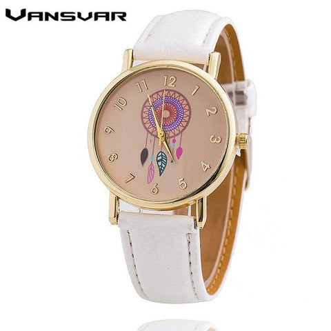 Fashion Casual Leather Strap Ladies Quart Watches