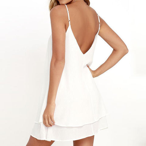 Chiffon Dress Sexy Mini Casual Dress