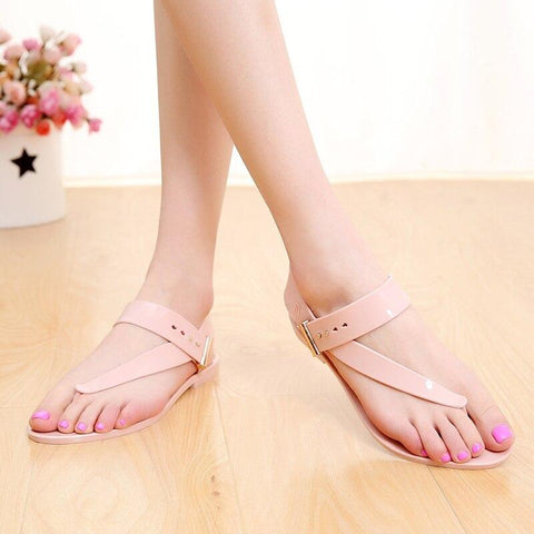 Flat Sandals Casual Bohemia Ankle Strap Buckle Gladiator Shoes