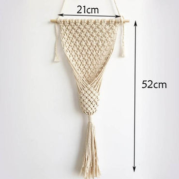 handmade flower pot macrame wall hanging Tapestry for