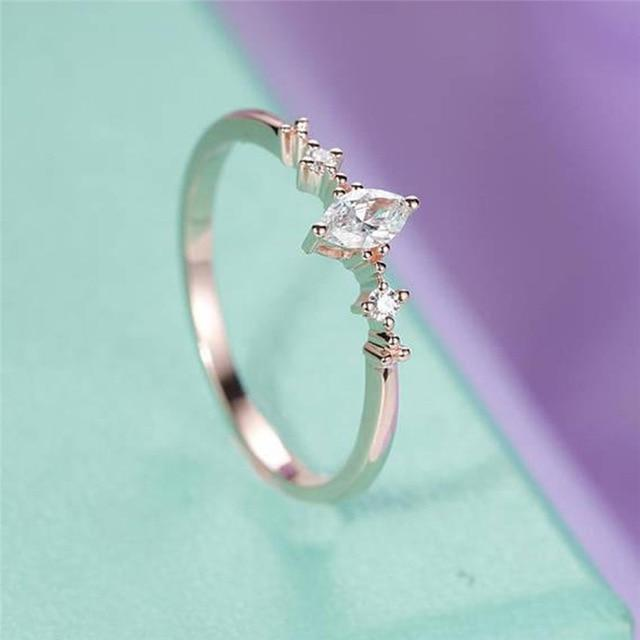 Marquise Cut Three Stone Cluster Ring