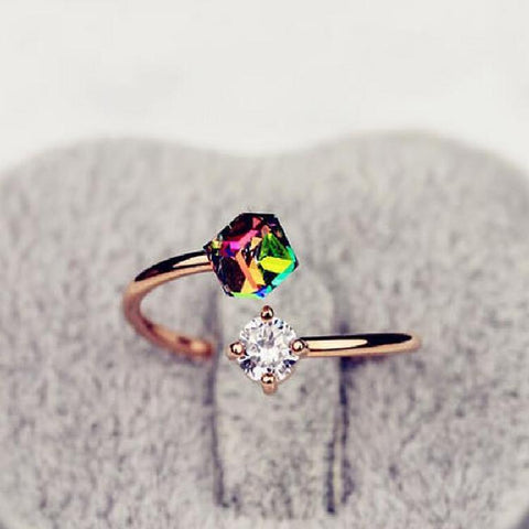 Elegant Charm Crystal Infinite Ring