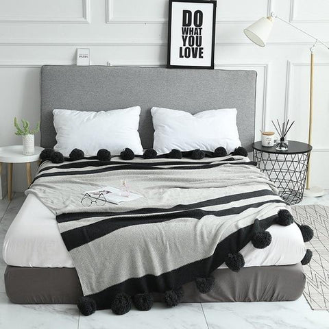 Knitted Blanket Yarn Knit Casual Decorative Close-fitting Blanket