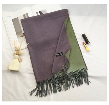 fashion solid double-side soft cashmere scarf