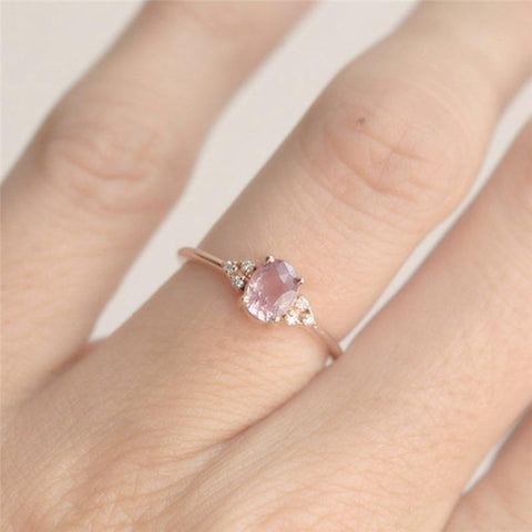 Pink CZ Dainty Romantic Ring