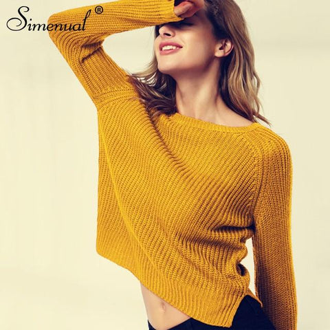 yellow autumn winter knitted jumper sweater