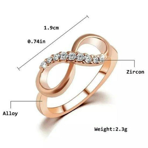 Alloy Crystal Infinity Ring