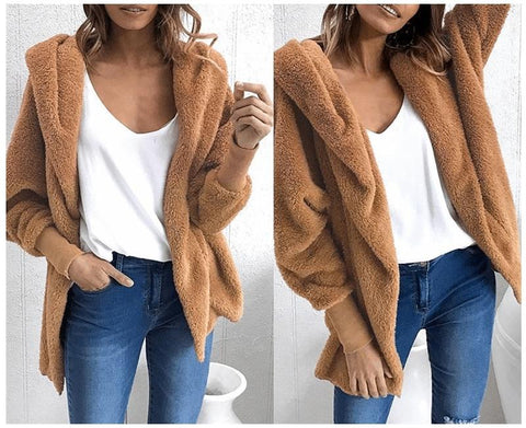 Autumn Casual Flannel Long Trench