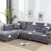 living Room  L shaped Stretch Sectional Sofa Cover