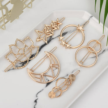 Fashion Triangle Hair Clip Pin Metal Geometric Alloy Hairband