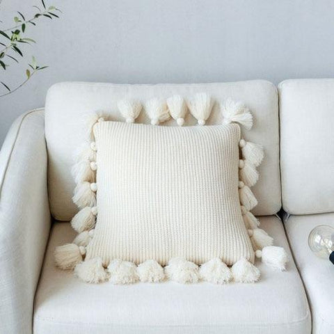 Sofa Bed Knit Pillow Cushion Cover