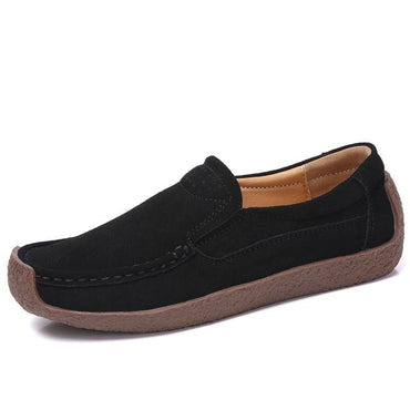 Moccasins Genuine  Lady Loafers Slip On leather Shoes