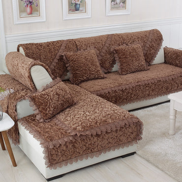 Living Room Decor Fabric Lace Slip Resistant Cover Sofa