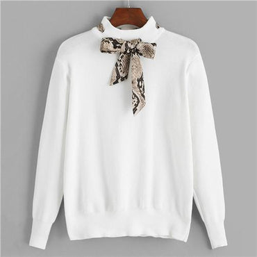 Turtleneck White Jumper Knitted Sweaters