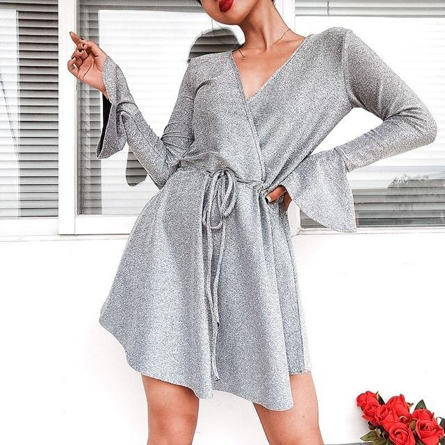 Autumn Long Sleeves Asymmetrical Boho Dress