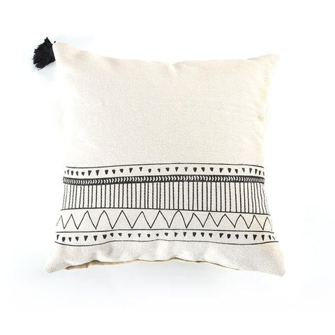 Cojines sofa Morocco geometric tufted tassel pillow cover