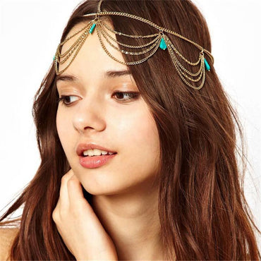 Indian Bridal Hair Vintage Boho Headband