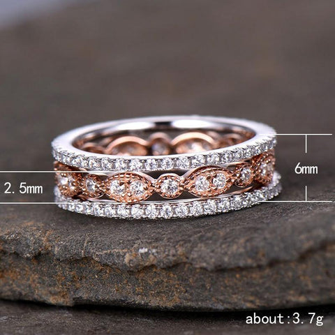 3pcs/set Dainty Retro Ring Set