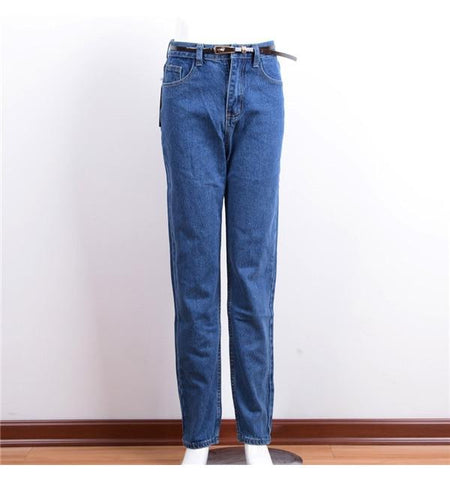 Denim High Waist Jeans   Blue Trousers