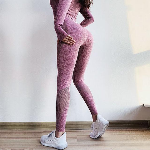 Gym Tummy Control High Waist Fitness Seamless Leggings