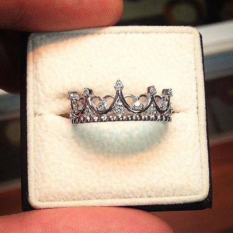 design crystal crown ring