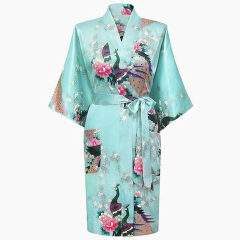 Sexy Bride Bridesmaid Wedding Floral Robe Gray Lady Kimono Bath Sleepwear