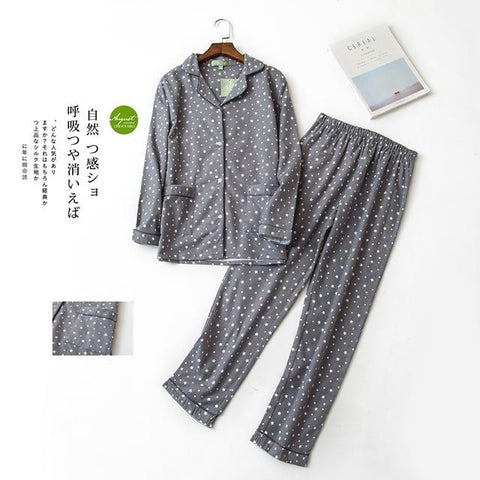 Autumn Winter Cotton Long Sleeve Sleep Wear