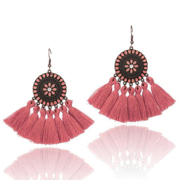 assel boho ethnic dream catch earrings