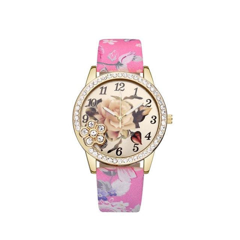 Fashion Folwers Quartz Rose Wristwatch Gift Bohemian Retro Style