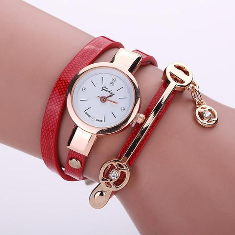 Bohemian Style Women's Watch Round Dial Bangle Watch