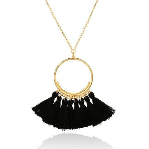 Bohemian Ethnic Tassel Pendant Necklace