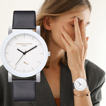 White Bracelet Creative Clock Watch