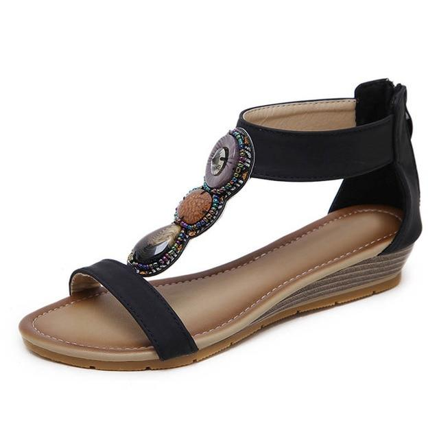 Bohemia Beach Sandals Sweet Ladies Brand Shoes