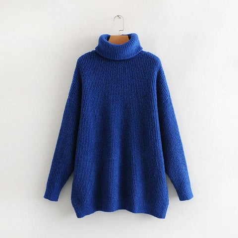 turtleneck oversize batwing sleeve long sweater