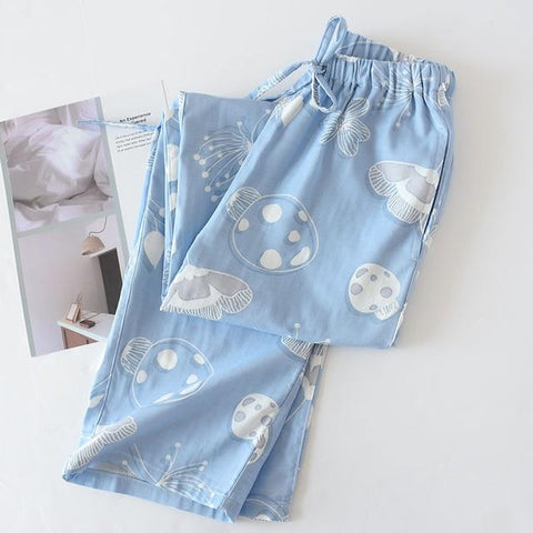 Cotton Long Print Sleep Wear Pant