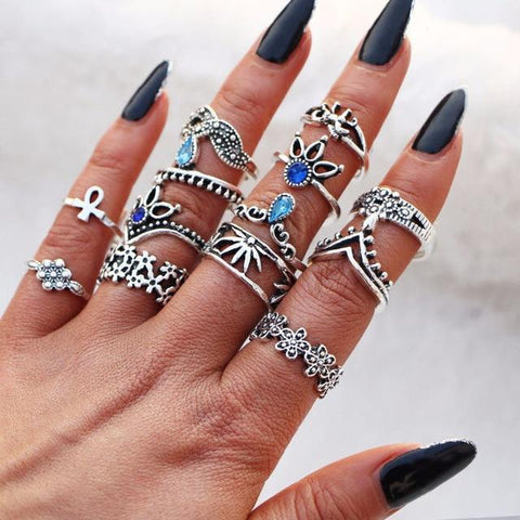 Vintage Knuckle Rings Set