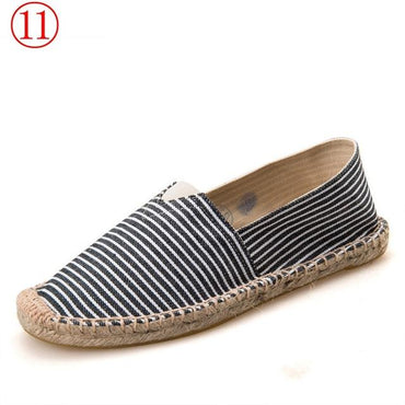 Retro Vintage Ladies Casual Espadrilles canvas Shoes 2