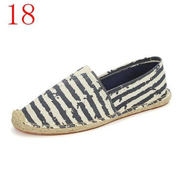 Retro Vintage Ladies Casual Espadrilles canvas Shoes 3