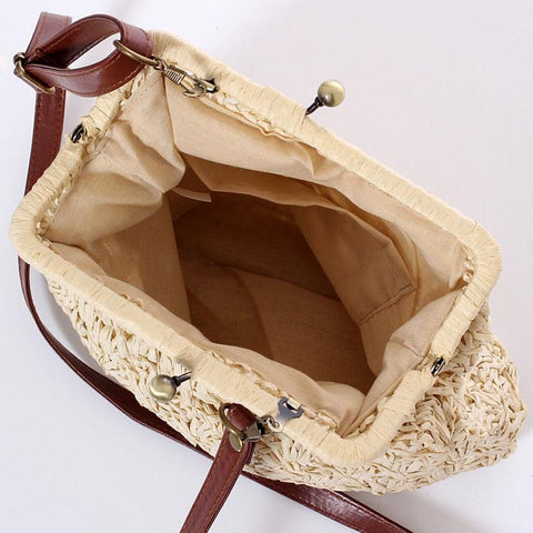 Vintage Shell Shape Knitting Messenger Bags