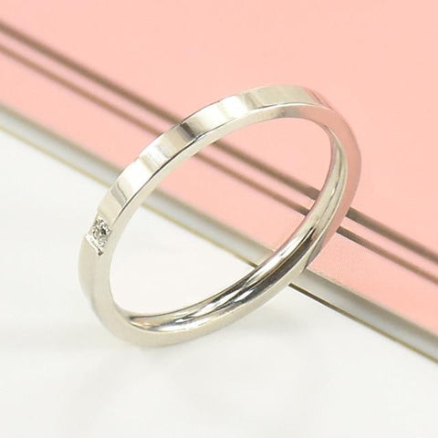 (1 MM) Simple Thin Titanium Steel Ring part a