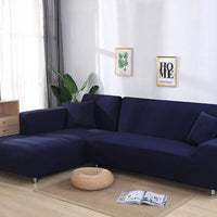 Y1 Elastic Cotton It Needs Order 2 Pieces Covers for L-shape Corner Sectional Sofa Cover
